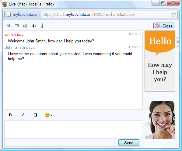 Click to view mylivechat screenshots